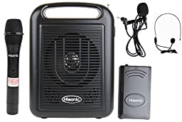 Hisonic HS310 Rechargeable Portable Bluetooth PA System Wireless Microphone with MP3 Player and Recorder