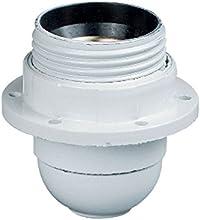 Legrand LEG91134 - Casquillo con anillo para enroscar bombilla E27, color blanco
