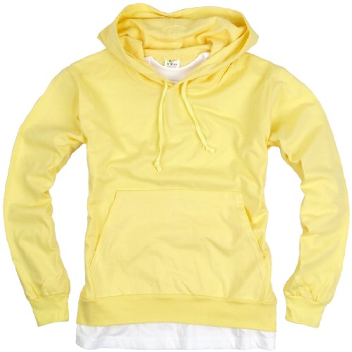 ililily Canvas long sleeve pullover hooded cotton lightweight sweatshirt for Men (hoodies-001-5-M)