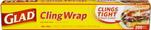 Glad Clingwrap Plastic Wrap, 200 Square Foot Roll (Pack Of 12)