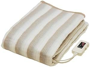 なかぎし 掛け敷き電気毛布 NA-013K 188×130cm 頭寒足熱配線 本体丸洗いOK 温室センサー付 日本製