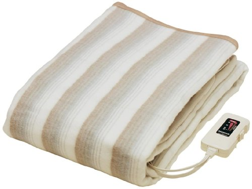 なかぎし 電気掛敷兼用毛布 NA-013K 「日本製・洗える電気掛敷毛布・室温センサー搭載で朝まで快適睡眠」