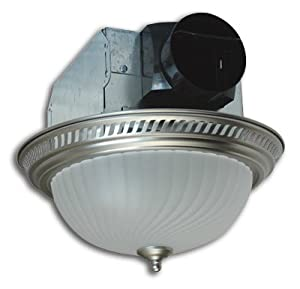 Air king akf702 quiet round exhaust bath fan light with - Round bathroom exhaust fan with light ...