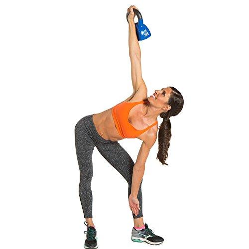 Kettlebell Workout Dvds Kettlebell Fitness Training Dvd: Contoured Single Vinyl Coated Kettlebell With Training Dvd