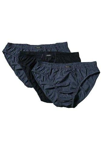 Mens 3 Pair Farah 100% Cotton Plain Slip Brief Underwear In Airforce & Navy