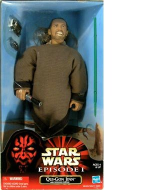"Star Wars Qui-Gon Jinn 12"" Action Figure with Tatooine Poncho - 1"