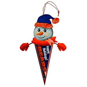 """Pack of 3 NFL Chicago Bears Lighted Snowman Pennant Christmas Ornaments 5"""""""