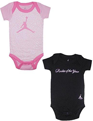 (Pack Of 2) Air Jordan By Michael Jordan Baby Girls One-Piece Romper 0-6M Multicolor front-323087