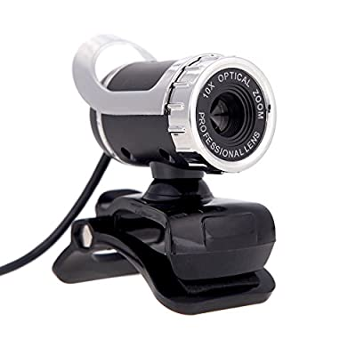 docooler USB 2.0 12 Megapixel HD Camera Web Cam 360 Degree with MIC Clip-on for Desktop Skype Computer PC Laptop