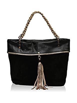Carla Ferreri Prive Collection Bolso asa al hombro (Negro)