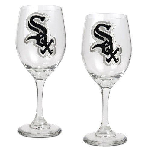 MLB Chicago White Sox 14-Ounce Wine Glass (Set