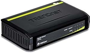 TRENDnet 5-Port Unmanaged Gigabit GREENnet Desktop Plastic Housing Switch, TEG-S5g