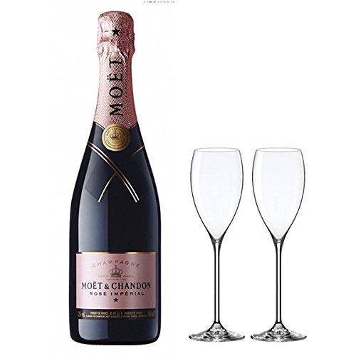 モエ・エ・シャンドン ロゼ アンペリアル ペアシャンパングラス付き (MOET&CHANDON ROSE IMPERIAL) (シャンパン / シャンパーニュ / スパークリングワイン) (ロゼ) (ギフト包装無料)