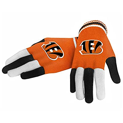 Cincinnati Bengals Forever Collectibles Multi Colored Knit Gloves Ladies One Size