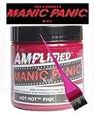 Manic Panic Amplified Hair Dye - Vegan Hair Dye - Hot Hot Pink & Pink Tint Brush