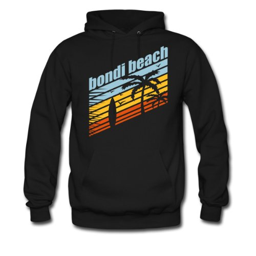 Spreadshirt, BONDI BEACH, Men's Hoodie, black, XXL