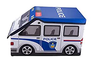 Clever Creations Police Car Collapsible Toy Storage Box And Closet Organizer For Kids