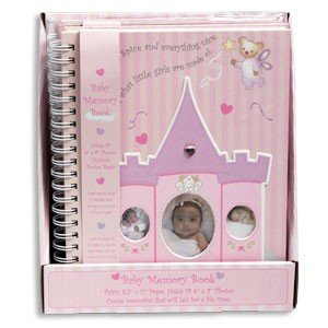 BABY GIRL MEMORY BOOK ~ 11 Inch Pink Sugar & Spice Journal ~ Record Special Moments Keepsake Milestones ~ Baby Shower Newborn Gift CHRISTMAS New Mom ~ Adorable - 1