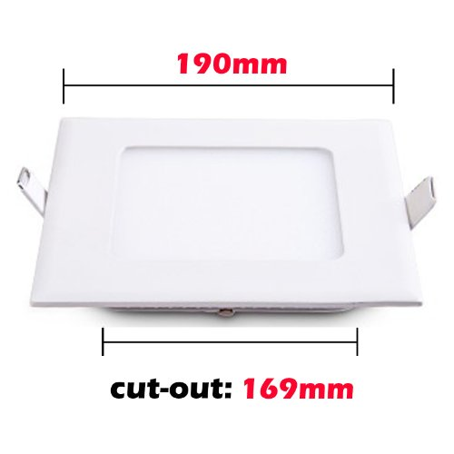 Sunsbell Led Panel Light 15W Dimmable Square Ceiling Light Fixture Indoor Downlight Perfect For Living Room Lamp Kitchen Lighting Bedroom Light Warm White