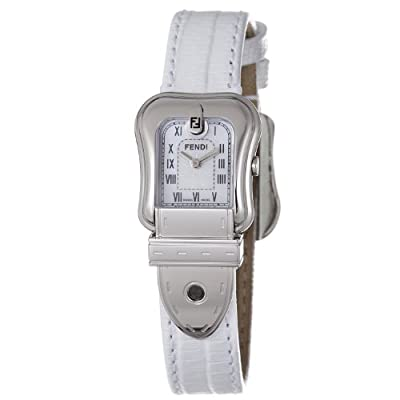 Fendi B. Fendi Ladies White Leather Strap Mother of Pearl Dial Watch F371244