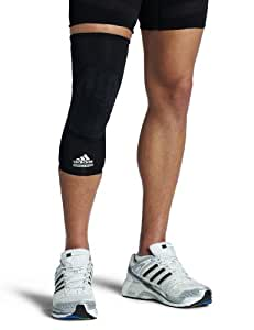 adidas Men's Techfit Padded Compression Knee Sleeve (Black, Large)
