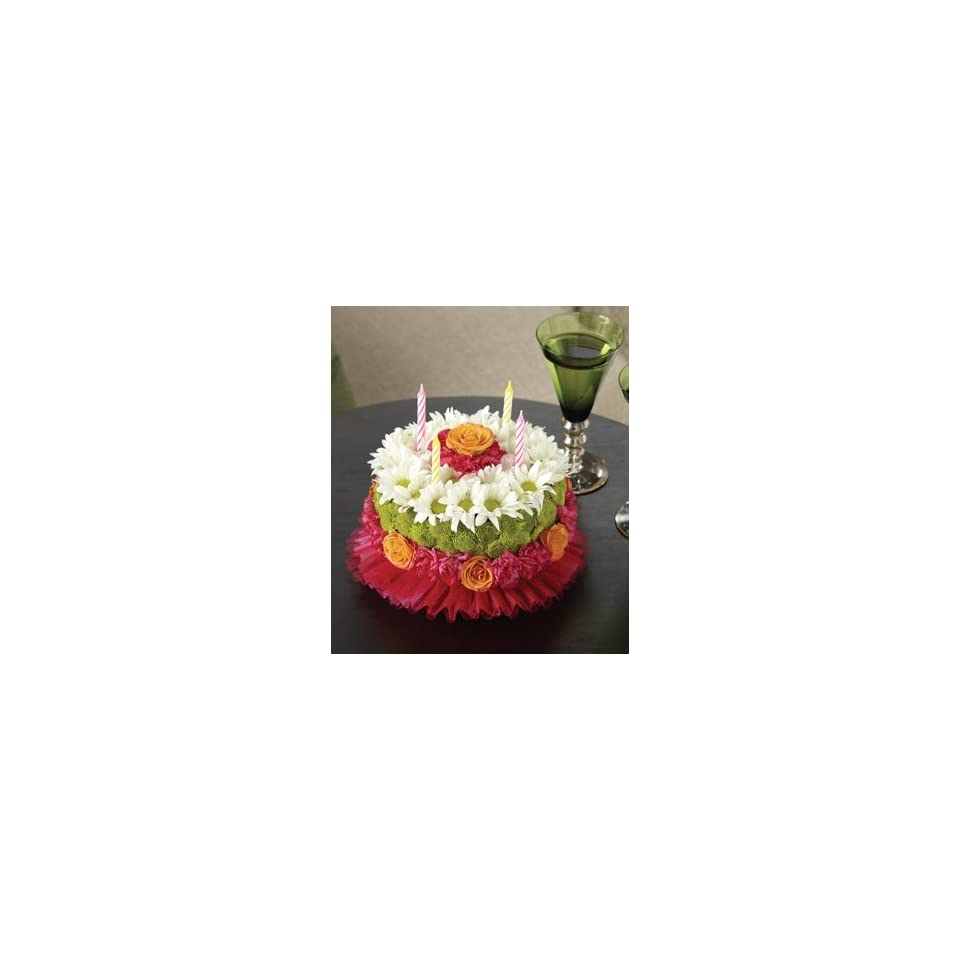 Flowers By 1800Flowers Birthday Flower Cake Bright