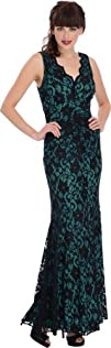 PacificPlex Womens Sleeveless Lace Overlay Mermaid Dress