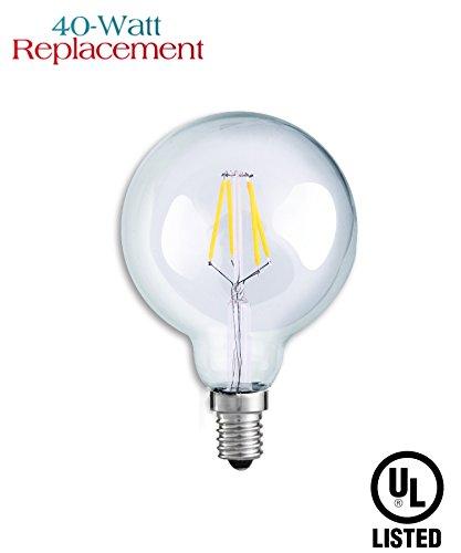 Luxrite-LR21239-4W-G165-Decorative-LED-Filament-Globe-Light-Bulb-Equivalent-to-40W-Incandescent-G165-Light-Bulb-Warm-White-2700K-350-Lumens-E12-Candelabra-Base-UL-Listed