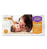 Family & Toddler Moist Flushable Wipes, 432 Count by Berkley Jensen