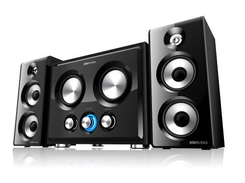 Alienvibes 110W 2.2 Channel Subwoofer Pc Speaker System, Black (W401)