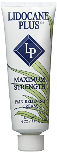 Lidocane Plus with Lidocaine 4% Pain Relieving Cream, 4 Oz