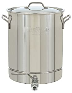 Bayou Classic 1032 Stainless 8-Gallon Stockpot with Spigot and Vented Lid by Bayou Classic