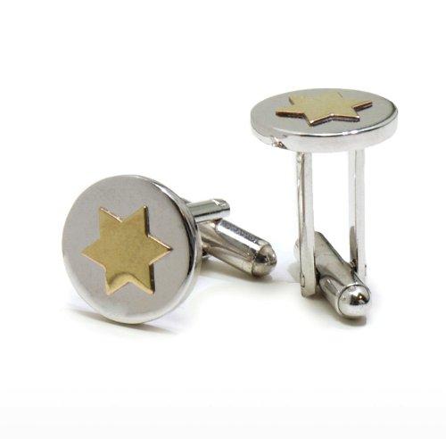 EJ Sutton Gold Star of David Cuff Links