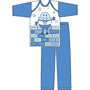 Baby Boy Humpty Dumpty Long Sleeve Top Bottomstrouser Pyjama Set 6-9 Months Bluewhite from Universal Textiles