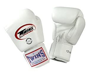 Buy Twins Special Muay Thai Boxing Gloves BGVL-3 White 8-10-12-14-16 Oz. by Twins Special
