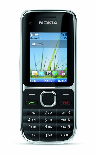 Nokia C2-01 Unlocked GSM Phone with 3.2 MP Camera and Music and Video Player--U.S. Version with Warranty (Black)