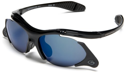 Gargoyles Men's Gamer Resin Sunglasses,Black Frame/Smoke Lens,one size