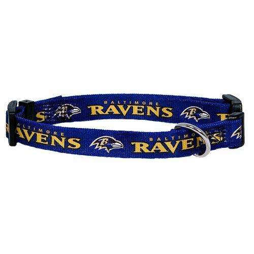 Nfl Baltimore Ravens Adjustable Pet Collar, Large, Team Color front-126778