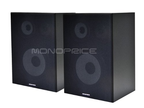 Monoprice 108251 3-Way Bookshelf Speakers (Pair)