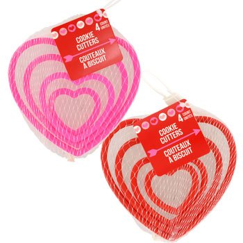 Valentine's Day Gifts & Decorations (Heart-Shaped Cookie Cutters) (Heart Baking Decorations compare prices)