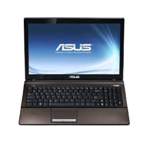 Asus X53SV-SO951V 39,6 cm (15,6 Zoll) Notebook (Intel Core i5 2430M, 2,4GHz, 8GB RAM, 500GB HDD, NVIDIA GT 540M, DVD, Win 7 HP) braun