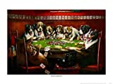 Poker Sympathy Sports Art Poster Print by Cassius Marcellus Coolidge, 25x19