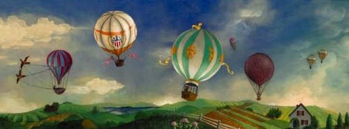 hot air balloon wall decals tktb