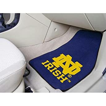 Notre Dame Fighting Irish NCAA Car Floor Mats (2 Front) ND Logo by Fanmats