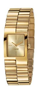 Esprit Playa Women's Quartz Watch with Gold Dial Analogue Display and Gold Stainless Steel Bracelet ES106082003