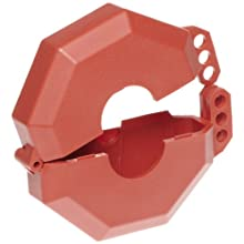 "Accuform Signs KDD474 StopOut Gate Valve Lockout, Fits Valve Handle Diameter 10"" - 13"", Red"