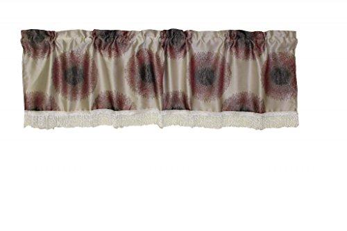 """Emblem Vintage Damask Design 60"""" X 15"""" Window Valance, Color Lilac / Silver"""