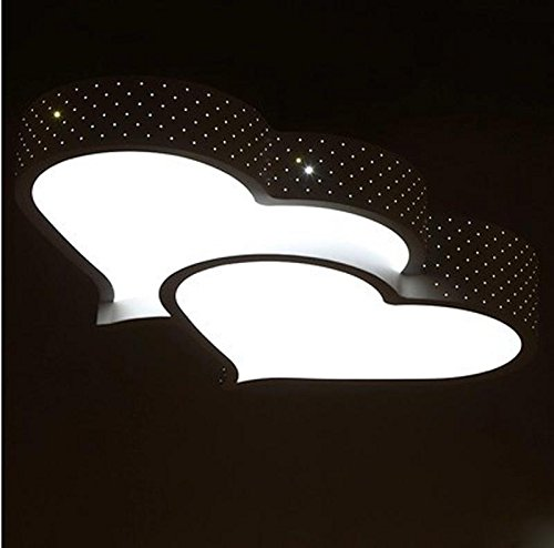 NHD-LED ceiling lamps, bedroom modern minimalist wedding lights, warm pair of heart shaped lamp iron lamps , black