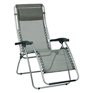 Lafuma Recliner Chairs   Green RSX Zero Gravity Outdoor Folding Patio  Recliner Lawn Chair