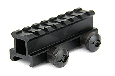 "TacFire 3/4"" High Compact Size Riser Picatinny Mount With Thumb Screws, T6 6061 Aluminum , 3.1"" Long with 7 Slots, Best for Red Dot Sight and Compact Scope from TacFire"
